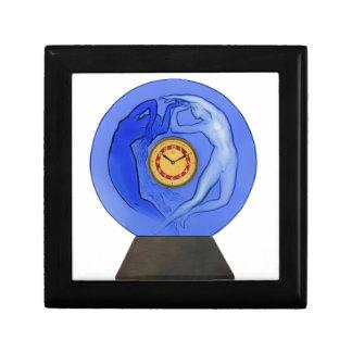 Art Deco Night & Day glass clock. Gift Box