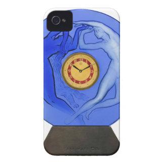 Art Deco Night & Day glass clock. iPhone 4 Case-Mate Case