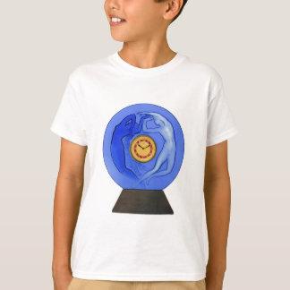 Art Deco Night & Day glass clock. T-Shirt