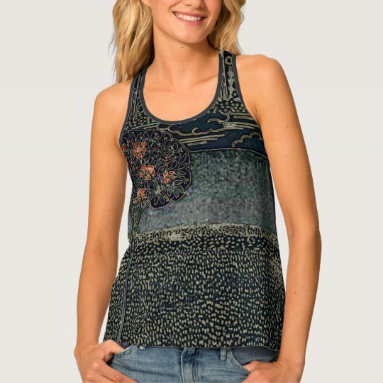 Art Deco Night Garden Tank Top