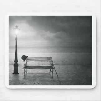 Art déco noir et blanc d'art de photo, cru, mémoir tapis de souris