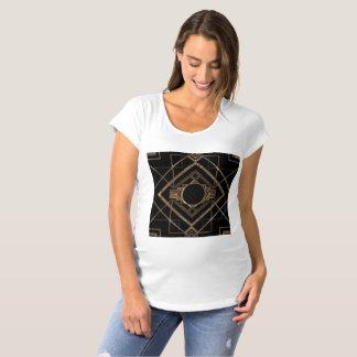Art deco, nouveau,vintage,black,gold,chic,elegant, maternity T-Shirt