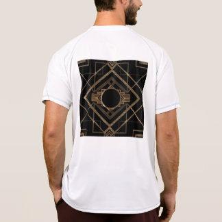 Art deco, nouveau,vintage,black,gold,chic,elegant, T-Shirt