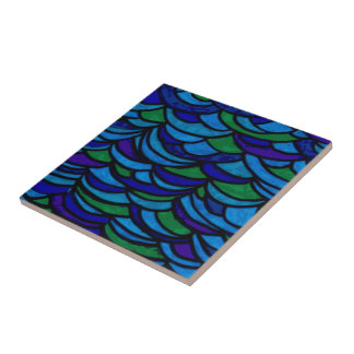 Art Deco Ocean Waves Tile