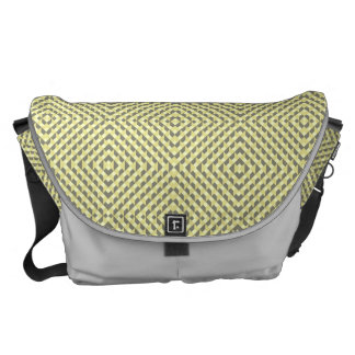 Art Deco Op Art - Yellow and Gray Messenger Bag