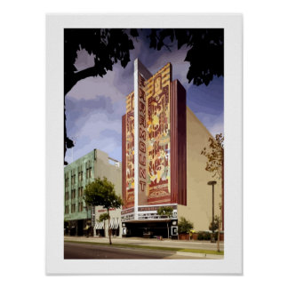 Art Deco Paramount theatre Oakland painting Poster