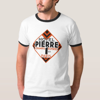 Art Deco Paris French hotel label remake T-Shirt