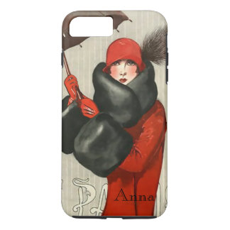 Art Deco Parisian Fashion Image iPhone 7 Case