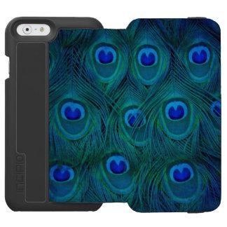 Art Deco  Parisian Teal Green Peacock Feather Incipio Watson™ iPhone 6 Wallet Case