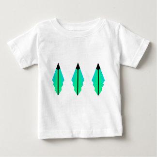 Art Deco pattern 3 in Aqua Baby T-Shirt