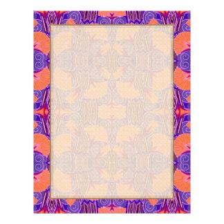 Art Deco Pattern - Bold Purple and Orange Letterhead