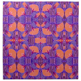 Art Deco Pattern - Bold Purple and Orange Napkin