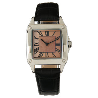 Art Deco Pattern, Copper and Black Watch