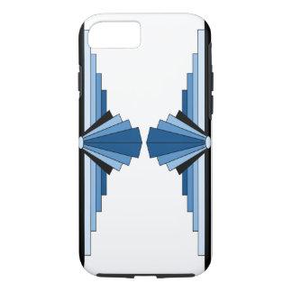 Art Deco Pattern in Blues iPhone 7 Case