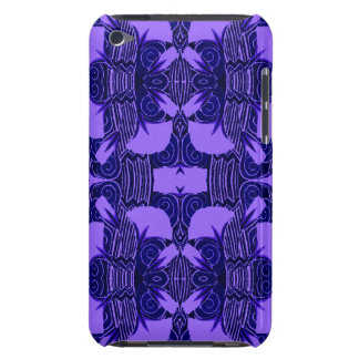 Art Deco Pattern in Purple and Dark Blue iPod Touch Cases