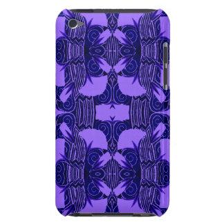 Art Deco Pattern in Purple and Dark Blue iPod Case-Mate Case