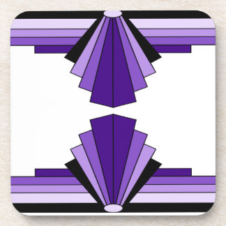 Art Deco Pattern in Purples Coaster