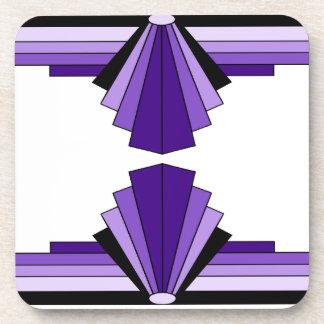 Art Deco Pattern in Purples Coasters
