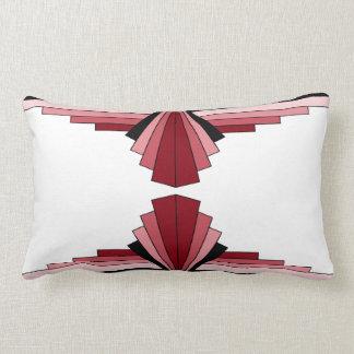 Art Deco Pattern in Reds Lumbar Pillow