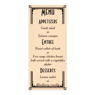 Art Deco Peach and Black Gray Wedding Rack Card