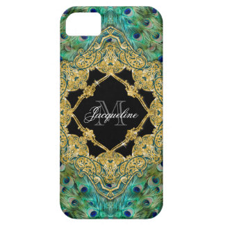 Art Deco Peacock Gold Glitter Old Hollywood Gatsby iPhone 5 Cover