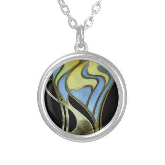 Art Deco Pendant Silver Nouveau Jewelry Jugendstil