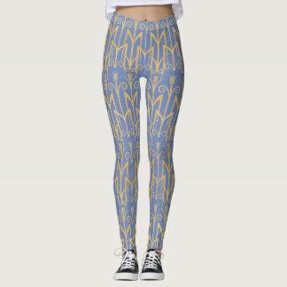 Art Deco Periwinkle Leggings