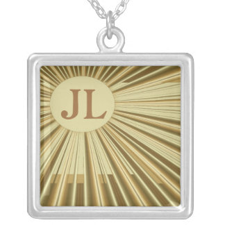 Art Deco Personalized Necklace