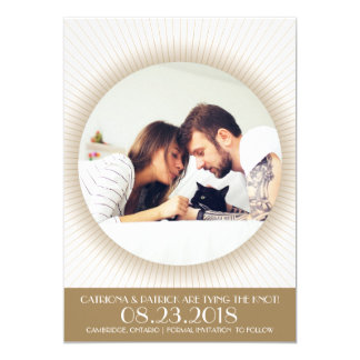 Art Deco Photo Frame | Save the Date Announcement