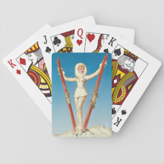 Art Deco Pin Up Playing Cards