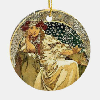 Art Deco Princess Ceramic Ornament