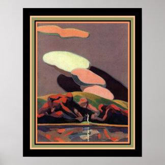 Art Deco Print by A. M. Hopfmuller 16 x 20