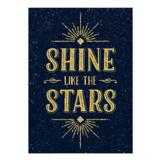 Art Deco Quote | Faux Gold Foil Typography Poster