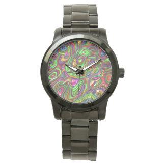 art deco, rainbow colors watch