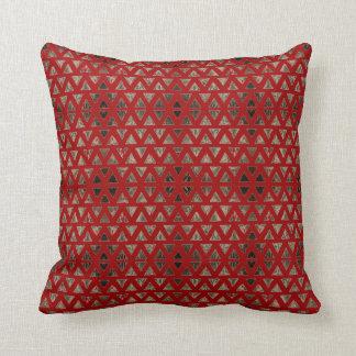 Art Deco Red Fog Throw Pillow