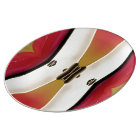 Art Deco Red Yellow White Porcelain Plate