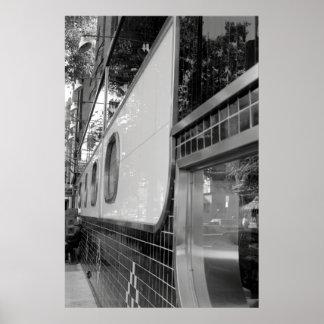 Art Deco Restaurant Exterior Poster