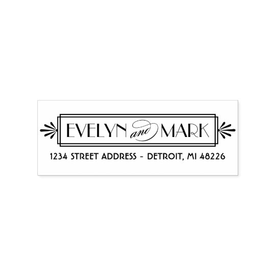 Art Deco | Return Address Rubber Stamp