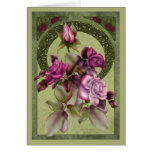 Art Deco Roses Card