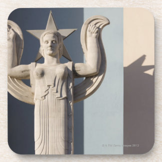 Art Deco Sculpture at the State Fair of Texas Beverage Coasters