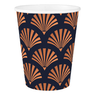 Art Deco Shell Pattern Copper Paper Cups Paper Cup