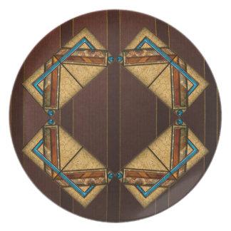 Art Deco Squares Plate