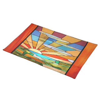 Art Deco Stained Glass 1 Placemat
