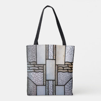 Art Deco Stained Glass Design Tote