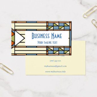 Art Deco Stained Glass Statement Business Card