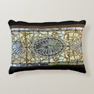 Art Deco Stained Glass Window Pillow