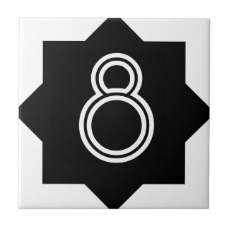 Art Deco Star Number Tile