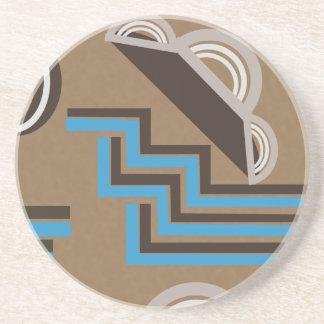 Art Deco style Abstract design Coaster
