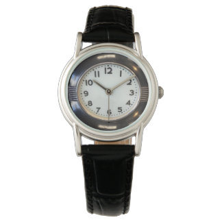 Art Deco Style Back Leather Watch
