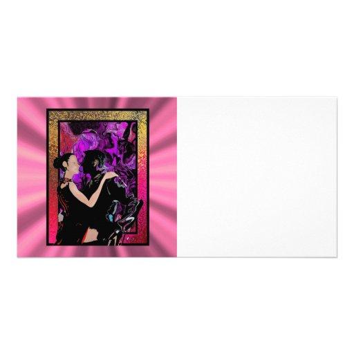 Art Deco style dancers Customized Photo Card